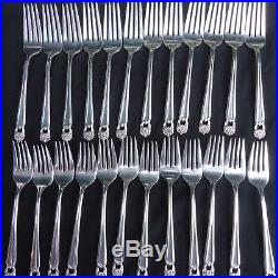 Vintage 1847 Rogers Bros Silverplate Flatware Eternally Yours 81 pcs set for 12