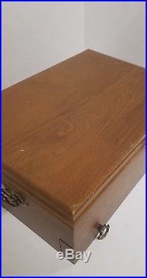 Vintage 1847 Rogers Bros Silverware Set With Wooden Box Vintage Antique