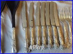 Vintage 1847 Rogers Bros XS charter Oak Triple Acorn Pattern 52 piece Set