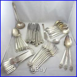 Vintage 1881 Rogers Silver Plated Plantation Flatware Set Craft Lot 54 Pieces