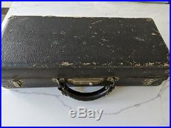 Vintage 1914 C. G. Conn Selmer New York Silver Plated Curved Soprano Saxophone