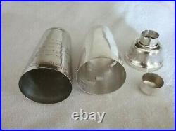 Vintage 1930's Silver Plated Dial A Drink Cocktail Shaker Similar To Napier