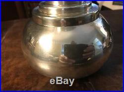 Vintage 1930s Asprey London Dumbbell Cocktail Shaker Barware 10.5 3138S