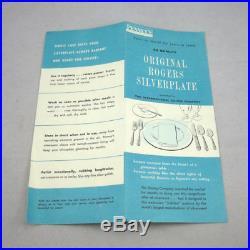 Vintage 1950s Wm Rogers Mfg Co 52 Pcs Flatware Set or Craft Lot Jubilee Pattern