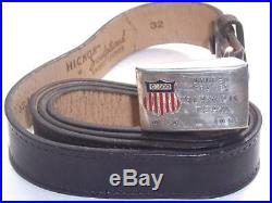 Vintage 1952 Team USA Belt & Silver-Plated Buckle Oslo Norway Olympics Rare