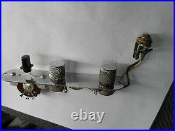 Vintage 1966 Fender Telecaster Control Plate Pots Cap Switch