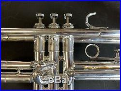 Vintage 1971 Silver Plated Getzen Eterna Severinsen Professional Trumpet w Case
