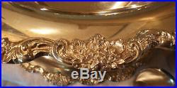 Vintage 1979 Towle Silver Plated Punch Bowl Set El Grande/Royal Rose