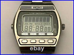 Vintage 1981 Seiko D229-5010 LCD Digital Watch Case Palladium plating
