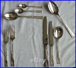 Vintage 50 piece Sheffield A1 Canteen Of Silver Plated Cutlery 6 place settings