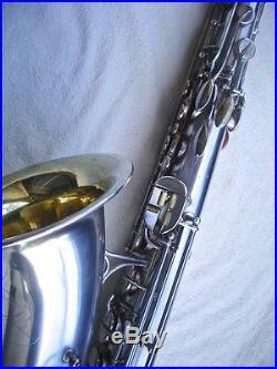 Vintage'51 Martin Committee 3 Tenor saxophone, RARE Silverplate, Overhauled