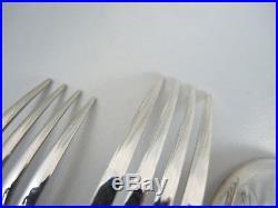 Vintage 6 person Australian Rodd Silver Plate Silver Shell cutlery set