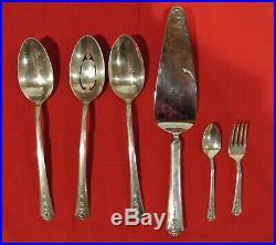 Vintage 63 Pc. Holmes & Edwards Silver Plate Spring Garden 1949