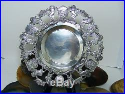 Vintage. 900 Sterling Silver Crown & Lion Shield Crest TRAY Columbia Serpent