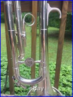 Vintage Al Hirt LeBlanc Large Bore Silverplate Trumpet