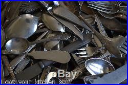 Vintage Antique Craft Silverplate Flatware 283Pc Lot Silverware Spoons Forks +