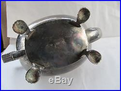Vintage Antique Silver Plate Coin Coffee Tea Pot IT I. T