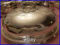 Vintage Antique Victorian Dome Silver Plated By Poole 527 J. H