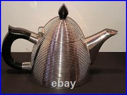 Vintage Art Deco Silver Plated Bee Hive Coffee Tea Pot Bakelite Style Handle