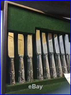 Vintage Arthur Price Canteen Of Cutlery, Silver Plate, Set For 12, Kings Pattern
