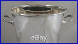 Vintage Asprey & Co London Silverplate Wine Cooler Ice Bucket