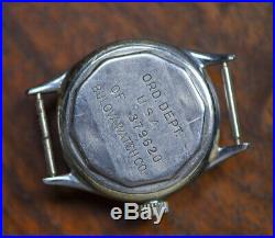 Vintage BULOVA WW2 Military ORD DEPT Cal. 10AK Watch RUNNING GOOD