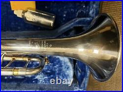 Vintage Bach Stradivarius LT180S43 43 Silver Trumpet With Corporation Bell