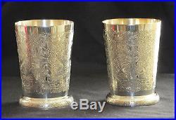 Vintage Barker Ellis Mint Julep cups silver plate