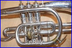 Vintage Besson Cornet in silver plate. Ready to play