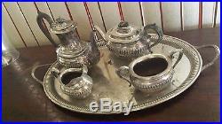 Vintage Birks Regency Silver Plate Tea & Coffee Set Sheffield Free Shipping