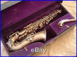 Vintage Buescher Silver Plate True Tone Alto Sax Serial # 237xxx