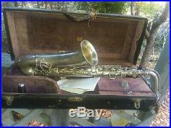 Vintage C. G. Conn Silver Plate C Melody Sax Saxaphone Parts Repair does play