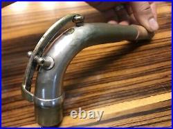Vintage CONN 12M Silver Plated baritone Saxophone Neck