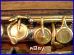 Vintage CONN Gold Plated Silver Flute = ULTRA LOW SERIAL # 28 = Needs Minor TLC