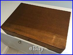 Vintage Canteen of Cutlery Sheffield Silver Plate EPNS 1940s Oak Box 59-Piece c4