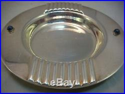 Vintage Cartier Pair Ashtrays and Candlestick set Silver Plated 1990