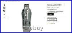 Vintage Christofle Cocktail Shaker Silver Plated Ondulations Luc Lanel Art Deco