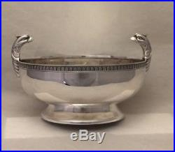 Vintage Christofle France Malmaison Pattern Eagle-Head-Handles Pedestal Bowl