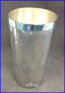 Vintage Christofle France Silver Plated Luc Lanel Ondulations Cocktail Shaker