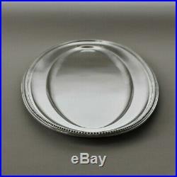 Vintage Christofle France Silver Plated Perles set of 3 Oval Serving Platters