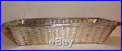 Vintage Christofle Gallia France Silver Plate Bread Basket