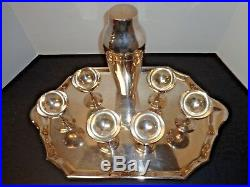 Vintage Christofle Rare Silver Plate Martini Cocktail Set