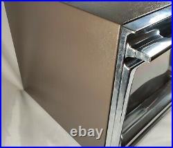 Vintage Chrome Amana Radarange Cookmatic Rr-7d Microwave Oven Original Plate USA