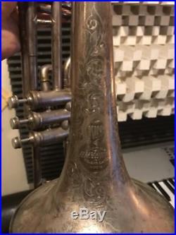 Vintage Circa 1898 King Valve Trombone, Silver Plate, Amazing