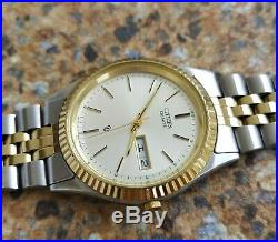Vintage Citizen CQ Quartz Watch April 1986 JDM Kanji Gold Plated Fluted Bezel