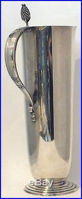 Vintage Cocktail Mixer Pitcher Shaker International Silver Co Handle Metal Stir