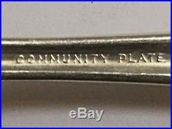 Vintage Collectible Community Plate Silverware Forks Knives Spoons Set 48 Pieces