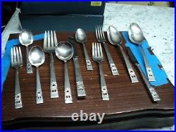 Vintage Community Coronation Silver Plate 54 Pcs Flatware@@@@@