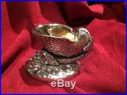 Vintage Corbel Silver Plate Dolphin Fish & Shell Salt Cellar Figure