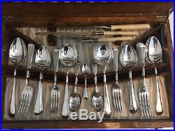 Vintage Cutlery Canteen Sheffield Silver Plate EPNS 53-Piece CP Walker & Co (B)